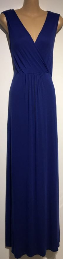 RED HERRNG MATERNITY BLUE JERSEY MAXI NURSING DRESS SIZE UK 16